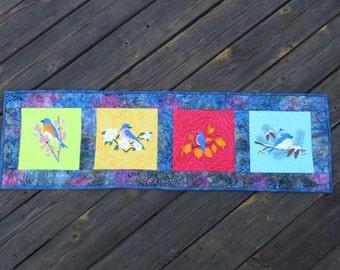 Table Runner Bluebirds in Four Season