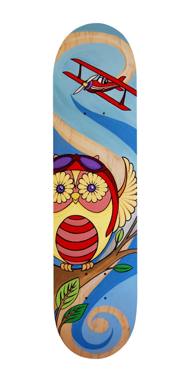 Skateboard Wall Art Children Owl Nursery Decor By Skatebaby