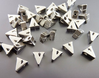 2 English alphabet letters collection - Lowercase metal letter charms in v 1947-MR-V