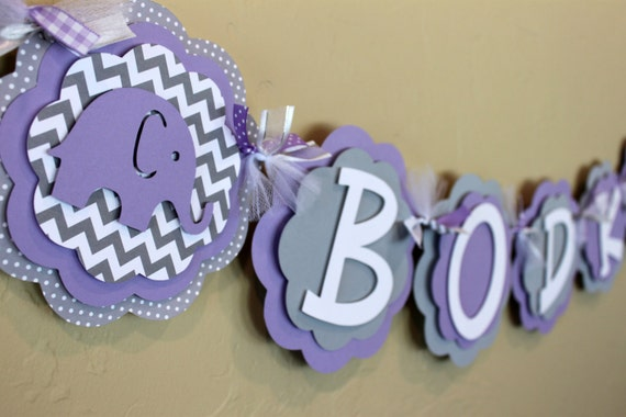 lavender purple and gray girl baby shower birthday party decorations