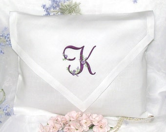 Personalized, Monogrammed Lingerie Travel Bag, Cottage Roses