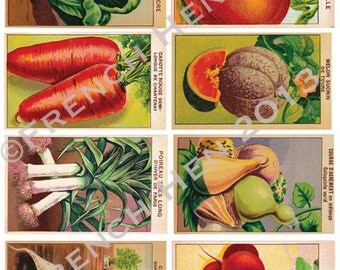 French Seed Packet Labels-Digital Download