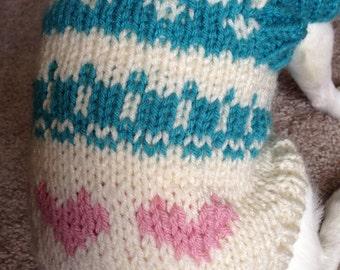 Dog Sweater - Blue Love (BL0108)