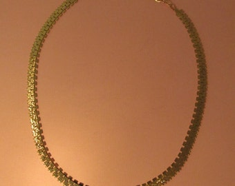 Vintage 8K Gold Necklace Modernist Adjustable