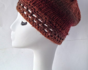 Ready to Ship! / Ladies Slouch Hat  / Wool / Crochet / Knit /
