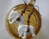 Elephant Button Earrings
