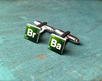 Breaking Bad Heisenberg Cufflinks cuff links cartoon illustration Walter White Jesse Pinkman