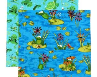 Cloth Napkins, Kids Fabric Lunchbox Napkins, Child Reusable Lunch Napkins, Set of 2