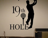Vinyl Wall Lettering Golf Theme 19th Hole Sports Large Home Wet Bar Man Cave Quotes Decal