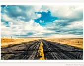 I Come From Nowhere - Landscape Photography - Open Road Photo - American West Art Print - Travel Photography - Farmhouse Decor