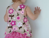 Baby Infant Toddler Girl Pink and Brown Floral Polka Dot Ruffle Bloomers and Pinafore Top 0-6 M 6-12 M 12-18 M 18-24 M 2T 3T