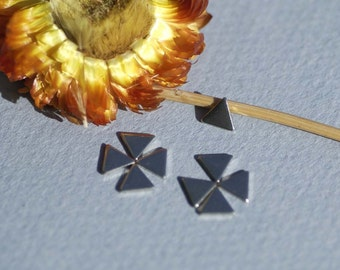 Nickel Silver Tiny Tiny Triangles Blank 6mm for Metalworking Stamping Texturing Soldering Blanks