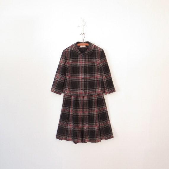 RESERVED * 60s Wool Suit * Vintage Pendleton Skirt Jacket Set * 1960s Tartan Ensemble * Large - XL