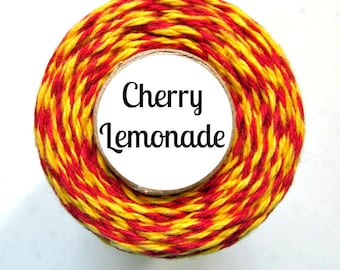 Red and Yellow Bakers Twine by Trendy Twine - Cherry Lemonade