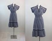 1960's Nautical Day Dress S/M
