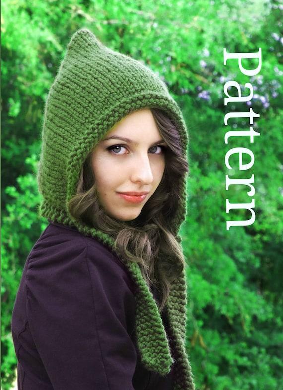 Knitting Pattern Pixie Hat Pixie Hood Pattern by CreatiKnit