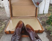 Vintage 1950's Man's Chocolate  Brown Leather ROBLEE Lace-Up Shoes / Loafers - sz 11 C