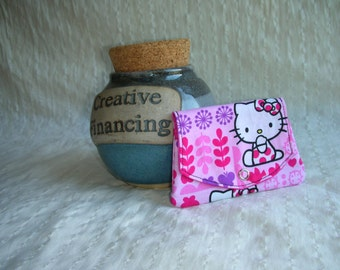 Pink Hello Kitty grab-n-go credit card wallet
