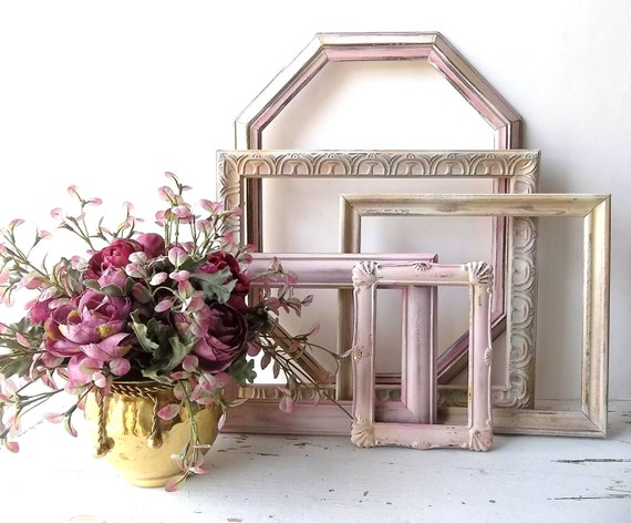 Custom Set. Shabby Chic Wall Art Frame. Shabby Picture Frames ...