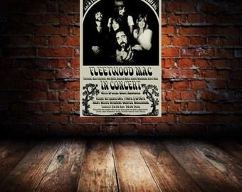 Fleetwood Mac 1975 Kent State Concert Poster