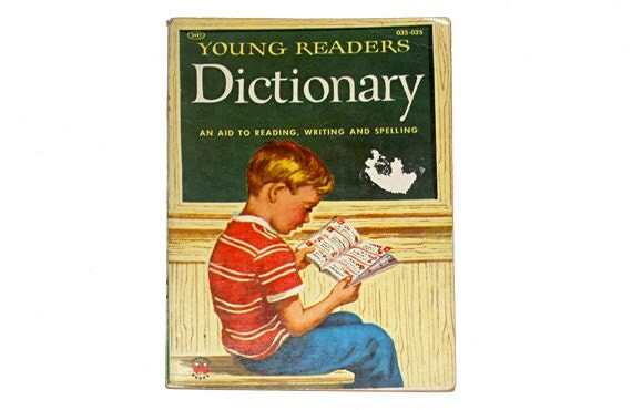 1955 Young Readers Dictionary, Vintage Wonder Books, Children's Book, Vintage Children's Book, Collectible Book by NewYorkBookseller on Etsy