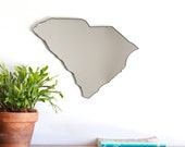 South Carolina Mirror / Wall Mirror State Outline Silhouette SC Charleston Columbia Shape Wall Art