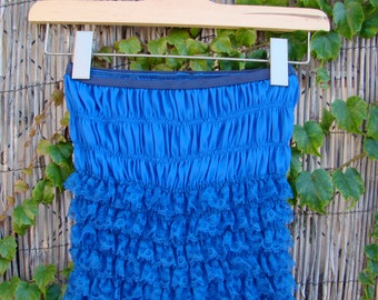 Vintage 60s / Electric Blue / San Francisco/  Ruffle / Boudoir / Bloomers / SMALL