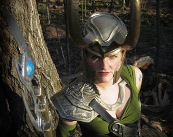 Loki Armor Set - 4 Piece Battle worn Armour set - Cosplay Costume - Tarnished Golden - Durable Armor