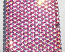 Rose AB - Iridescent Pink Crystal Diamond Rhinestone BLING Back Case for BlackBerry Z10 handmade using 100% Swarovski Elements