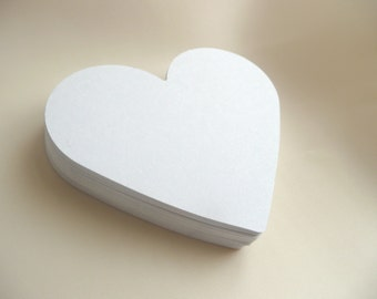Die Cut Hearts 50 Large Paper Hearts, Wedding decorations, Love, Scrapbooking, Party, Wish Tag Wedding Tag Paper Die Cut Cards Scrapbooks