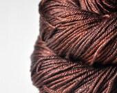 Burnt cinnamon roll - Silk/Merino DK Yarn superwash