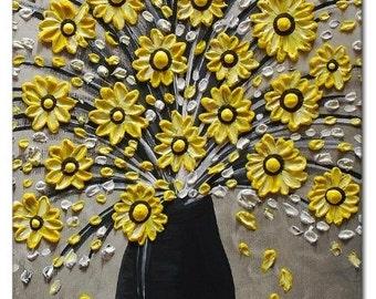 Mousepad Mouse Pad Fine Art Painting The Yellow Bouquet Flowers Vase Black