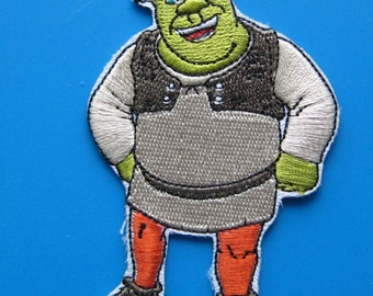 Iron-on Embroidered Patch Shrek 3.5 inches