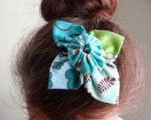 Turquoise Handmade Flower Hair Barrette