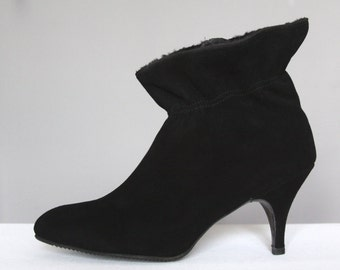 1960's black ankle boots