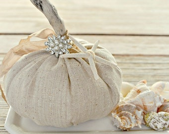 Fabric Pumpkin-Rustic-Seaside
