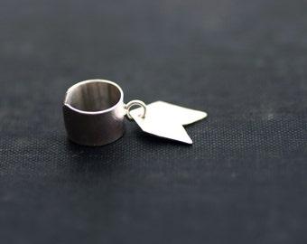 Chevron Charm Ear Cuff - Sterling Silver