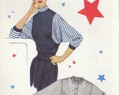 Vintage 1955 KNIT O GRAPH 216 Knitting Pattern Ladies Dolaman Sleeved Slipover Cardigan Straight Skirt Design Size 12-14-16-18