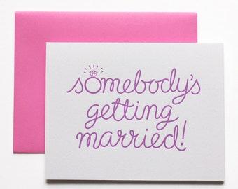 Engagement Card, Bridal Shower Card, Wedding Congratulations Card, Wedding Card, Engaged Card, Wedding Card