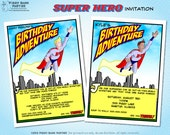 SUPER HERO Invitation -  Personalized DIY Printable Superhero and Comic Book Themed Invite