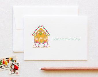 Gingerbread House Holiday Letterpress Card