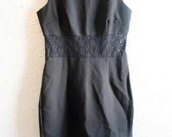90s LBD with sheer lace middle