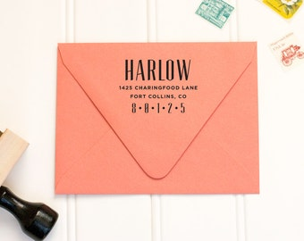 Personalized Rubber Address Stamp by Paper & Parcel - No. 06