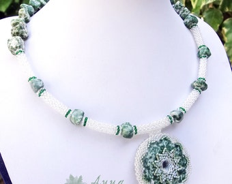 Tree agate necklace FREE SHIPPING