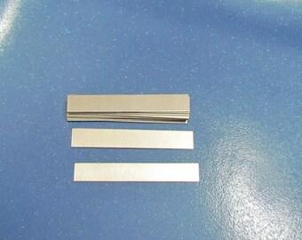 3/8 x 2 -1/2 -  Aluminum Ring blanks - 22 gauge -hand stamping blanks -metal blanks - rectangle blanks