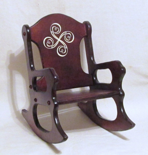 Wooden Kids Rocking Chair-Lauburu