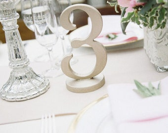 Vintage Style Wedding Table Numbers For Decor Wooden Freestanding Marker Signs Item
