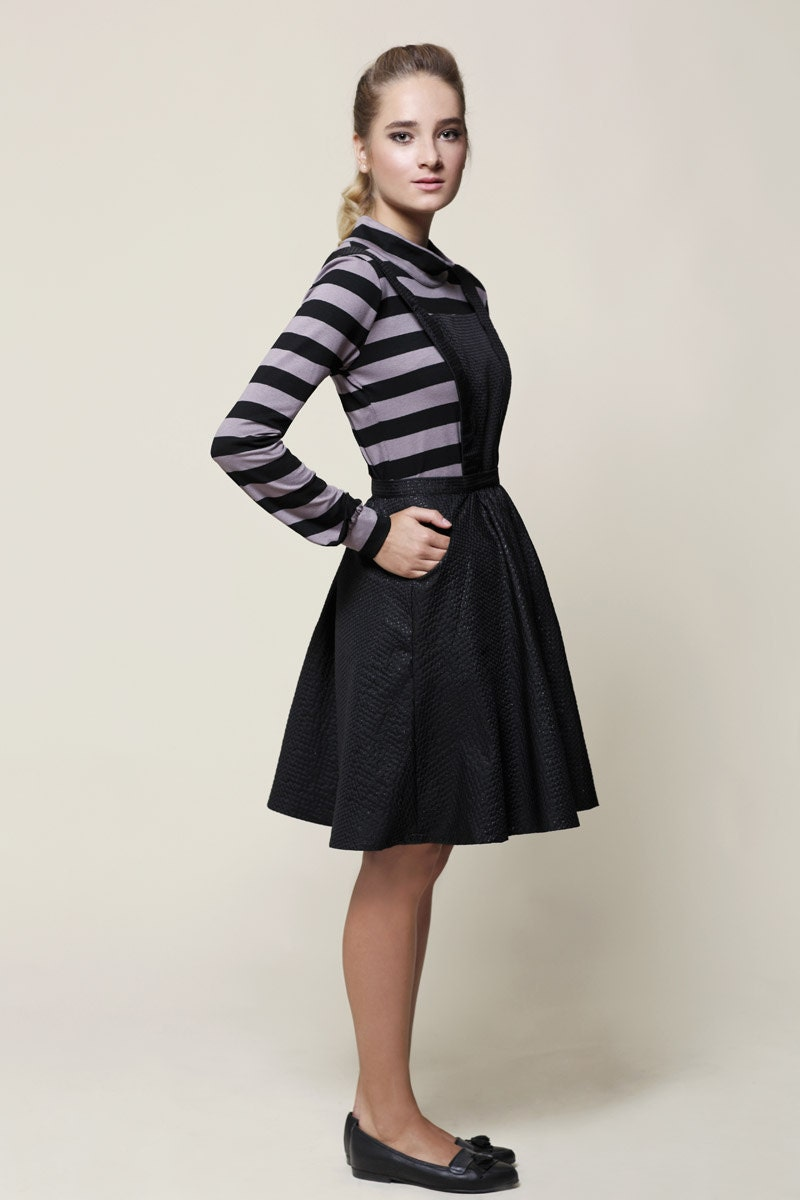 SALE Pinafore Dress Jumper Dress Black Dress Black Jumper