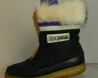 vintage 80s boots size 7.5 muck lucks sheepskin lined fur trimmed