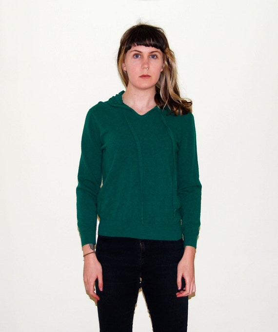 vintage wool pullover sweater / kelly green / small
